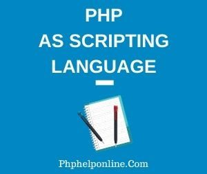 Php As Scripting Language